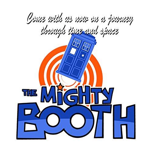 Mighty Booth Doctor Who Tardis Boosh Men's Baseball Long Sleeved T-Shirt White/Navy