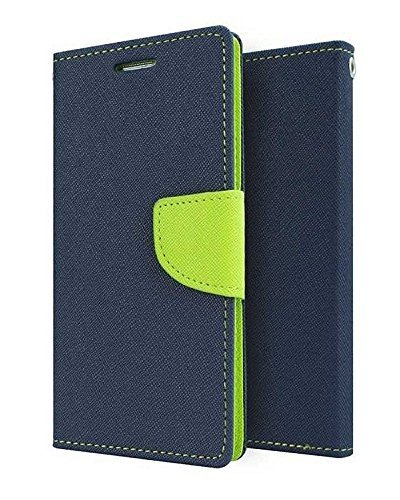 Relax And Shop Luxury Diary Wallet Style Flip Cover Case for Samsung Galaxy S Duos 7562/ GT7582 - Blue  available at amazon for Rs.189