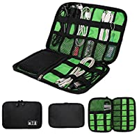 Bluelans® Portable Travel Cable Organizer Case Bag Phone Charger Case for Electronic Computer Cell Phone IPad Accessories USB Cables Power Banks Hard Disk (Black)