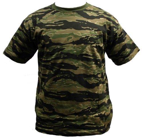 Poly-tiger Camo (Dallaswear Herren T-Shirt, Camouflage, Militär-Design, Größen S-3XL  - Orange - Tiger - Medium)