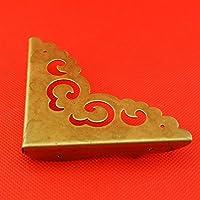 ChenXi Shop - Juego de 4 protectores de esquina de latón envejecido para pata de madera