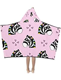 Dibujos animados cebra Bosque Animal Suave cálido Los niños visten capucha Manta portátil Toallas baño Envoltura