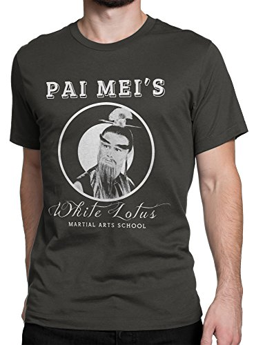 Herren-T-Shirt Pai Mei's Martial Arts School - 100% baumwolle LaMAGLIERIA Dunkelgrau