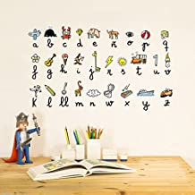 Chispum VIINF237L - Vinilo decorativo, diseño Mi primer abecedario, 58 x 65 cm