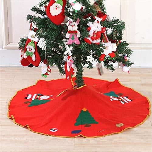 Meiju Weihnachtsbaum Decke,Weihnachtsbaum Rock Dekoration Weinachtsdeko Rund Weihnachtsbaumdecke Röcke Ornaments für Weihnachtsschmuck Baum Rock Deko Schutz (90cm,Weihnachtsbaum)