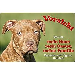 +++ American PITBULL Pit Bull Terrier - Metall WARNSCHILD Schild Hundeschild Sign - APT 01 T1