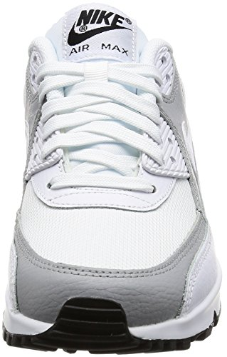 Nike Damen Wmns Air Max 90 Sneakers, Elfenbein (White/White/Wolf Grey/Black), 40 EU - 4