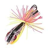 TOOGOO 1 PZ Cicala Rana Esche da Pesca Snakehead Esca 9cm 9.2gtopwater Hard Bass Esca Rana Esca Attrezzatura da Pesca (Colore Rosa)