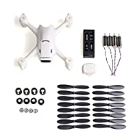 Morpilot Hubsan x4 H107C+ Spare Parts, RC Drone Battery, Body Shell, 4 Drone Motors, 4 Spare Blade Set and Set of Rotors from morpilot
