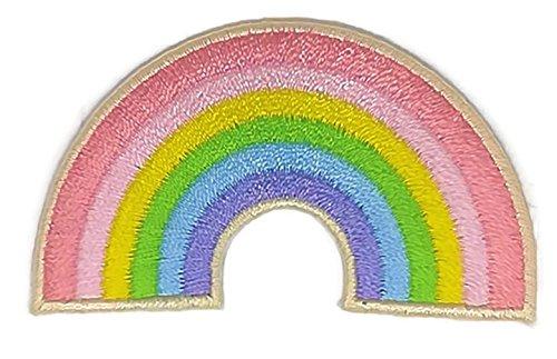 Colorful Rainbow Peace bestickt Nähen Eisen auf Patch Cartoon Nähen Eisen auf bestickte Applikation Craft handgefertigt Baby Kid Girl Frauen Tücher DIY Kostüm Zubehör
