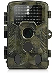 Wildkamera, Aidodo 16MP 1080P HD mit 120 Grad Infrarot Wildtierkamera, 49 IR LEDs Nachtsicht Wasserdichte Wildlife Camo Jagdkamera, Überwachungskamera Fotofalle
