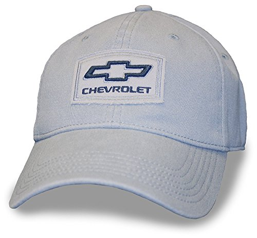 Grey Hat Flex Fit Chevy Patch Heavy wash cotton twill (Flex-fit Twill Cotton Cap)