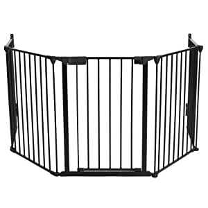 Tectake barri re de s curit grille de protection pour enfants pour chemin e et escaliers - Barriere de securite cheminee ...