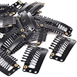 20 Pcs Black 9 Tooth : KLOUD City® 20 Pcs Black U Shape Metal Snap Clips/ Wig Clips/ Hairpiece Clips For For Hair...