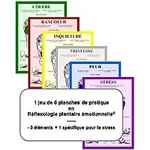 Jeu de 6 Planches de Pratique, Reflexologie Plantaire Emotionnelle