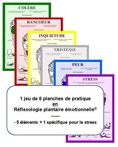 Jeu de 6 Planches de Pratique, Reflexologie Plantaire Emotionnelle par Jean-Luc Coquet