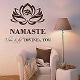DreamKraft Namaste Wall Sticker For Kids Room |Living Room|Bedroom|Office PVC Vinyl Art Decals(28X25 Inch)