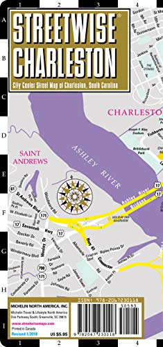 Streetwise Charleston Map - Laminated City Center Street Map of Charleston, South Carolina (Streetwise Maps)