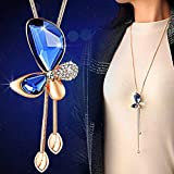 Shining Diva Fashion Latest Fashion Jewellery Collection Gold Plated Pendant for Women (Blue)(9278np)