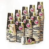 1000 Gobelets Carton pour Café à Emporter - Gobelets Jetables - Tasse Café 240ml pour Servir Le Café, Le Thé, des Boissons Chaudes et Froides
