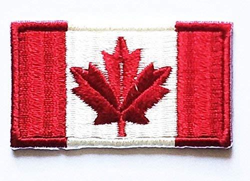 HHO Mini Kanada Flagge Patch Nationalflagge Patch bestickt DIY Patches Aufnähen Aufnäher Aufbügeln für alle Handwerk für Taschen Jacken Jeans Kleidung Patch Jacke T-Shirt Aufbügeln Kostüm (Alle Nationalen Kostüm)