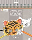 Avenue Mandarine GY023O Un carnet de Coloriage masques - Graffy Pop Mask - Animaux