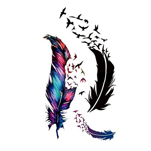 vollter-oiseaux-feather-tattoo-body-art-stickers-papier-decal-tatouage-temporaire