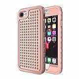 Bubblegum für iPhone Modelle Pink Armour Case Collection–TPU Schutzhülle Soft Gel Artistic Schutzhülle, Metal Circle, iPhone 8