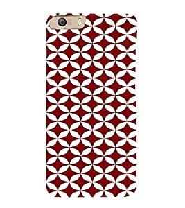 PrintVisa Circles Pattern 3D Hard Polycarbonate Designer Back Case Cover for Micromax CanvasKnight2E471