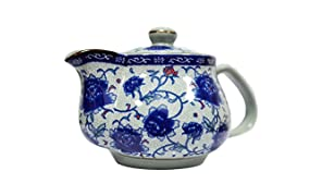 TGL Co. LUXURY TEAS Ceramic Tea Pot, Blue (500 ml)