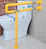 NAERFB Badezimmer Armlehne Armlehne Nylon mit Beinen barrierefreie Badezimmer WC Badezimmer Waschbecken Handlauf alte Menschen behinderte Menschen Armlehne (Farbe: Gelb, Größe: 75 cm)