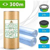300 M. - ECO Recharge de poubelle à couches Sangenic | Angelcare | Litière Litter Locker II | Recharge équivalente à 24 Recharges Sangenic | Tube en carton pour faciliter la Recharge | 100% Compatible