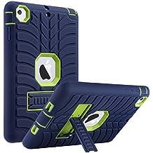iPad Mini Caso , iPad Mini 2/3 Funda Carcasa , ULAK 3in1 híbrido resistente a prueba de golpes de protección con KickStand Built-in caso resistente de la cubierta para iPad Mini / iPad mini 2 / iPad Mini 3, Amarillo Limón + Marino