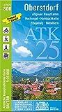 ATK25-S06 Oberstdorf (Amtliche Topographische Karte 1:25000): Allgäuer Hauptkamm, Hochvogel, Hornbachkette, Elbigenalp, Nebelhorn (ATK25 Amtliche Topographische Karte 1:25000 Bayern)