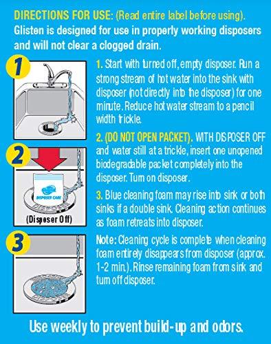 Disposer Care DP06NPB-03 Garbage Disposer Cleaner, Lemon