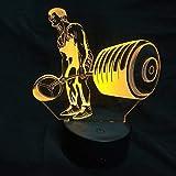 3D Gewichtheben Lampe USB Power 7 Farben Amazing Optical Illusion 3D wachsen LED Lampe Formen Kinder Schlafzimmer Nacht Licht.