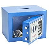 Phoenix kompakter Safe für Zuhause oder Büro mit elektronischem Schloss und Einwurf-Öffnung, blau