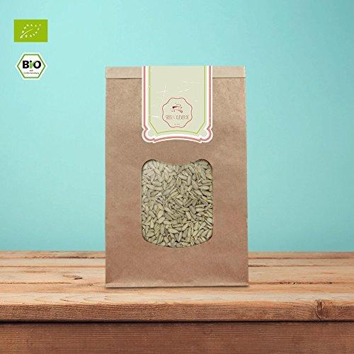 Preisvergleich Produktbild süssundclever.de® Bio Sonnenblumenkerne / 5 kg Maxipack (5 x 1 kg) / Premium Qualität / geschält und unbehandelt / ohne Salz / plastikfrei und ökologisch-nachhaltig abgepackt