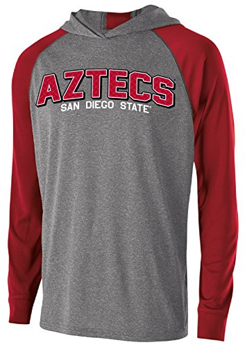 A San Diego State Aztecs Men's Echo Hoodie, Medium, Graphite/Scarlet ()