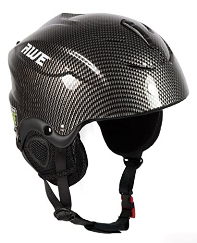 AWE® Ski Snowboarding Freeride Out Mould Helmet Kids/Junior Small/Medium Graphite 52-56cm CE EN 1077 Standards, TUV Tested - Sci Caschi