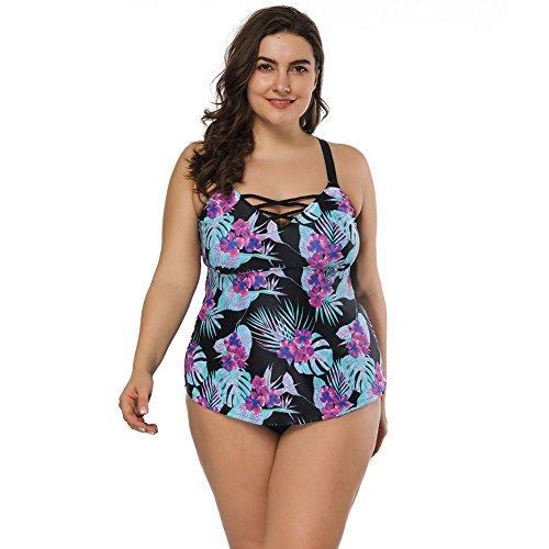 FeelinGirl Frauen schoene Tankini Zweiteilig Schwimmanzug Streifen Bademode Damen Strandmode Bikini Set - Gottex Tankini