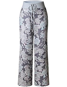 SYGoodBUY Pantalones Flojos del Verano de la Caída de Las Mujeres del Otoño Pantalones Flojos Impreso Pantalones...