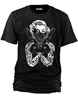"Sputnik-Shirts - Maglietta ""Monroe Gangster"", taglie dalla S alla 5XL"