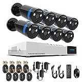 1080P Überwachungskamera System 8 x 1080P Wetterfest HD-Kamera Außen und 8CH DVR ohne Festplatte 1080P Überwachungskamera Set Bewegungsmelder IR Nachtsicht