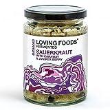Loving Foods Bio Choucroute au Carvi & Baie de Genièvre (500g) CRU | NON PASTEURISÉ | VIVANT (1 x Jar)
