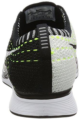 Nike Flyknit Racer, Scarpe da Corsa Uomo Bianco-Nero