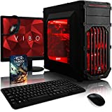Vibox VBX-PC-1484 Cerberus Paket 2 54,6 cm (21,5 Zoll) Gaming Desktop-PC (Intel pentium_dual_core K-G3258 4.4GHz, 16GB RAM, 1120GB HDD, NVIDIA Geforce GTX 750 Ti, kein Betriebssystem) rot