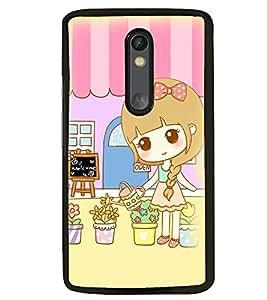 Printvisa Sweet Girl Gardening Back Case Cover for Motorola Moto G3::Motorola Moto G (3rd Gen)