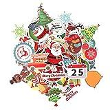 Q-Window Aufkleber Pack Graffiti Decal Vinyl Christmas Sticker für Laptop, Koffer, Kinder, Skateboard, Auto, Motorrad, Snowboard, iPhone, Nintendo Bomb Stickers Wasserdicht-100 Weihnachtsaufkleber