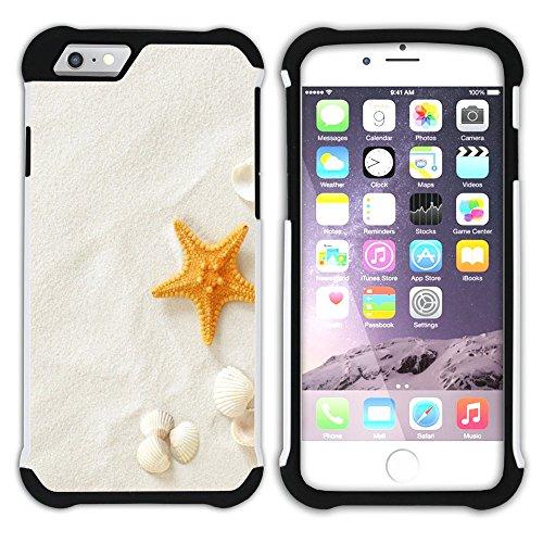 """Graphic4You """"Hello Summer"""" Seestern Sand Strand Hart + Weiche Kratzfeste Hülle Case Schale Tasche Schutzhülle für Apple iPhone 6 Plus / 6S Plus Design #13"""
